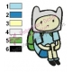 Finn Adventure Time Embroidery Design