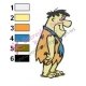 Flintstones Embroidery Cartoon 21