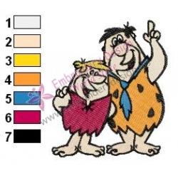 Flintstones Embroidery Cartoon 6