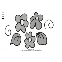 Flower Embroidery Design 06