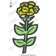 Flower with Eyes Embroidery Design