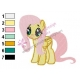 Fluttershy being Fluttershy One Piece Embroidery Design