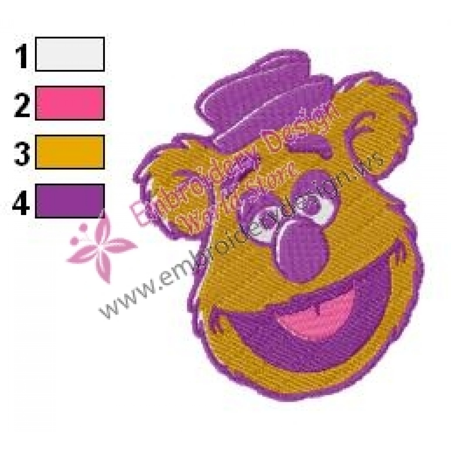 Fozzie Bear Muppets Embroidery