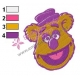 Fozzie Bear Muppets Embroidery Design