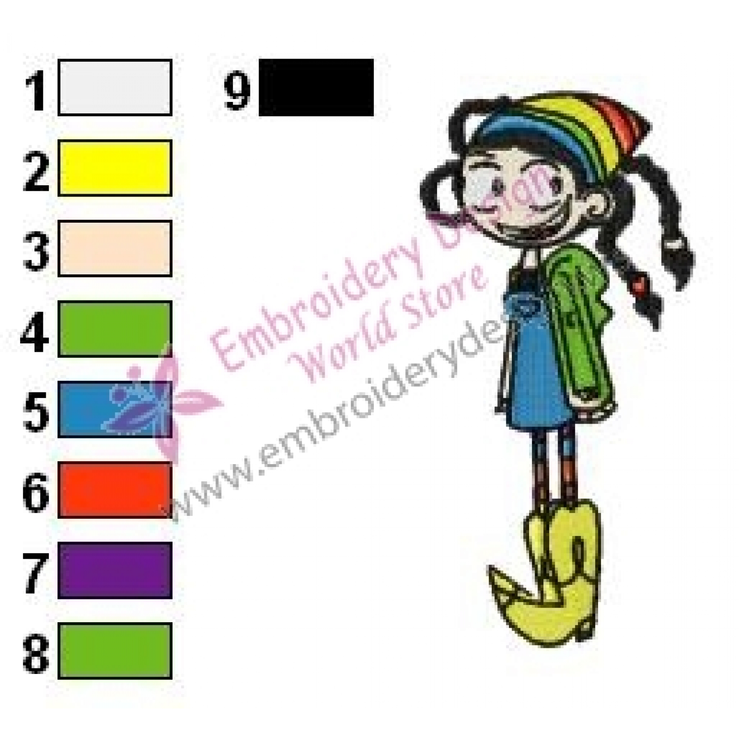 Frankie Fosters Home for Imaginary Friends Embroidery Design