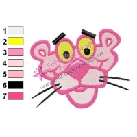 Free Pink Panther Embroidery Design 02