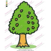 Fruitful Tree Embroidery Design 02