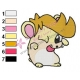 Fry Futurama as hamster Embroidery Design