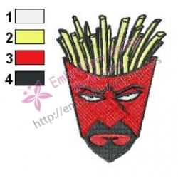 Frylock Aqua Unit Patrol Squad Embroidery Design 06