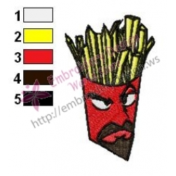 Frylock Embroidery Design