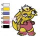 Funny Agumon Digimon Embroidery Design