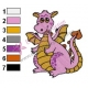 Funny Baby Dragon Embroidery Design