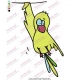 Funny Cartoon Bird Embroidery Design