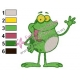 Funny Frog Embroidery Design