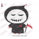 Funny Grim Reaper Halloween Embroidery Design