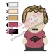 Funny South Park Kids Embroidery Design
