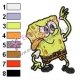 Funny SpongeBob SquarePants Embroidery Design
