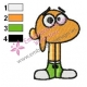 Funny Watterson The Amazing World of Gumball Embroidery Design