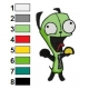 GIR Invader Zim Embroidery Design 02