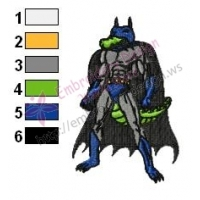 Gator Batman Embroidery Design