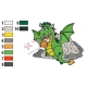 Geen Dragon Kid Embroidery Design