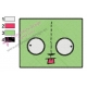 Gir Face Invader Zim Embroidery Design 02