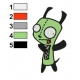 Gir Invader Zim Embroidery Design 04