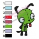 Gir Invader Zim Embroidery Design 06