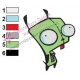 Gir Invader Zim Embroidery Design 08