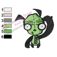 Gir Invader Zim Embroidery Design 09