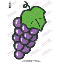 Grapes Fruit Embroidery Design 02