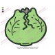 Green Cabbage Vegetable Embroidery Design 04