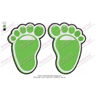 Green Feet Embroidery Design