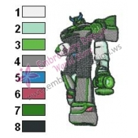 Green Lantern of Cybertron Embroidery Design