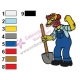 Groundskeeper Willie Simpsons Embroidery Design
