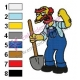 Groundskeeper Willie Simpsons Embroidery