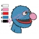 Grover Embroidery Design