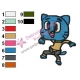 Gumball Watterson Embroidery Design