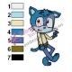 Gumball as Sonic Embroidery Design