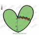 Halloween Frankenstein Heart Embroidery Design
