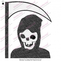 Halloween Grim Reaper Embroidery Design 02
