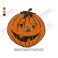 Halloween Pumpkin Embroidery Design 03