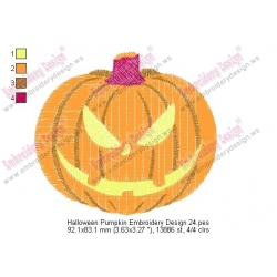 Halloween Pumpkin Embroidery Design 24