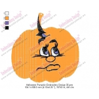 Halloween Pumpkin Embroidery Design 30