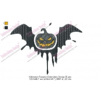 Halloween Pumpkin Embroidery Design 35