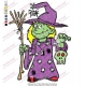 Halloween Scary Witch Embroidery Design 02