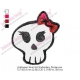 Halloween Skull Girl Embroidery Design