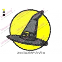 Halloween Witch Hat Embroidery Design 010