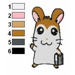 Hamtaro Embroidery Design 01