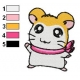 Hamtaro Embroidery Design 06